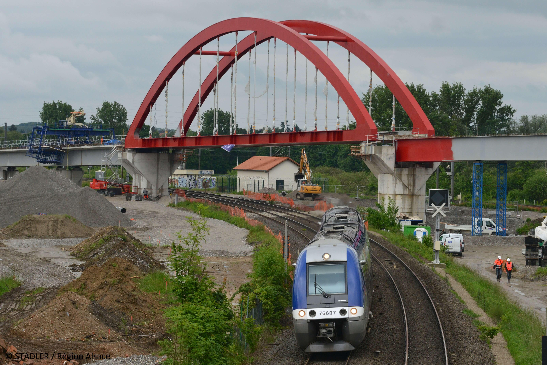Itinéraire cyclable / Radweg Beinheim - Wintersdorf: Technische und finanzielle Machbarkeitsstudie zum Bau einer Fußgänger- und Fahrradbrücke auf der Brücke Beinheim-Wintersdorf (RD87/L78b)