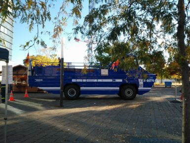Amphibienfahrzeug: Verbesserung des grenzüberschreitende Katastrophenschutzes durch die gemeinsame Beschaffung und Nutzung eines amphibischen Fahrzeugs