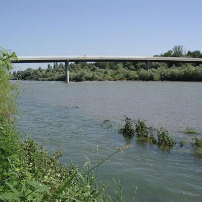 """Rheinbrücke """"Hartheim (D) – Fessenheim (F)"""