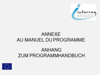 Aktualiserter Anhang zum Programmhandbuch