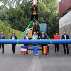 Neue grenzüberschreitende Trinkwasserleitung nördlich des Oberrheins