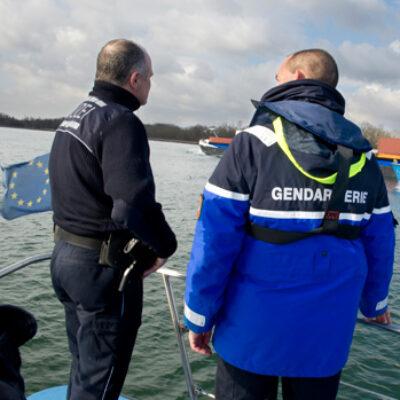 Ein schweres Polizeiboot für die deutsch-französische Wasserschutzpolizeistation