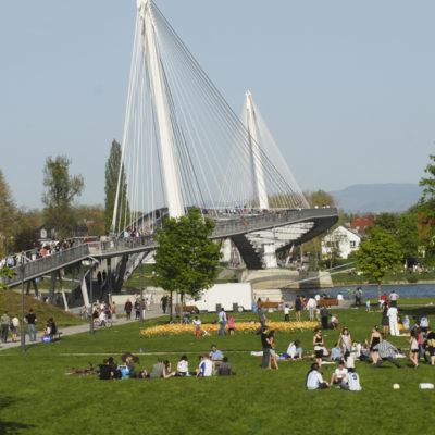 Planung einer neuen Rheinbrücke zwischen Kehl und Strasbourg für Fußgänger und Radfahrer