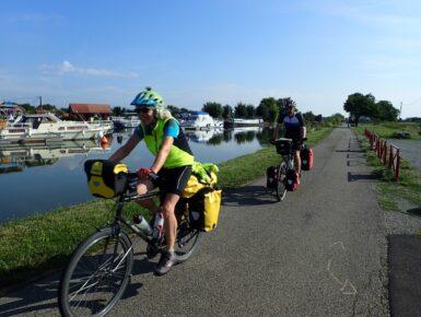 Öffnung des EDF-Stauwehrs Île du Rhin in Marckolsheim - Vogtsburg - Burkheim für Radfahrer und Fussgänger