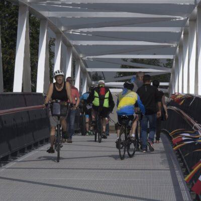 Rheinpassage am PK 309 für Fußgänger und Radfahrer